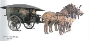 Carro puxado a cavalos da dinastia Qin