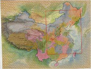 Mapa de localização de cavalos na China